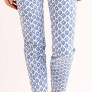 Vineyard Vines | Blue White Patterned Cropped Pant